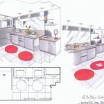 Dessin de cuisine Aurillac Cantal