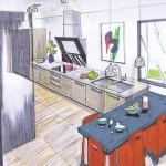 Dessin de cuisine Aurillac