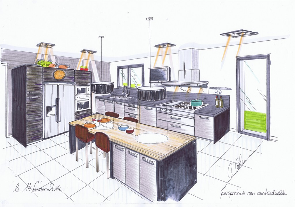Plan de cuisine cuisines 2c cr ations for Creation plan de cuisine